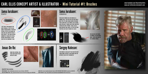 Ron Perlman Tutorial + Links to Brushes by Carl-Ellistrator