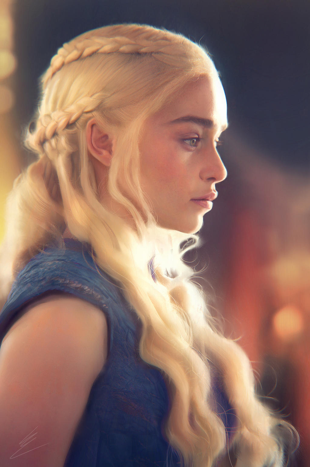 Daenerys Targaryen Portrait study by Carl-Ellistrator