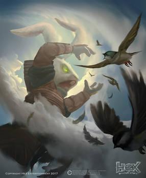 Hex - 'Enlarge' card Illustration