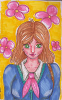 Anime girl (Alcohol marker challenge) by Anspire