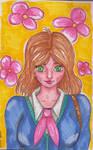 Anime girl (Alcohol marker challenge)