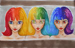 Rainbow Triplets by Anspire