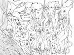 Secret Garden Lineart (WIP + Video)