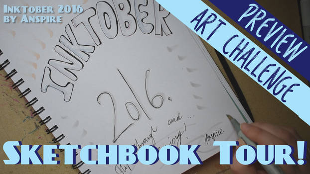 Inktober 2016 Sketchbook Flip-through! (Download)