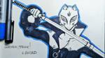 Goemon, strike! (Yusuke, Persona 5 for Inktober) by Anspire