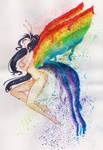 Rainbow Fairy (Art challenge)