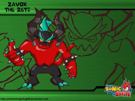 Zavok The Zeti - Sonic Battle Style