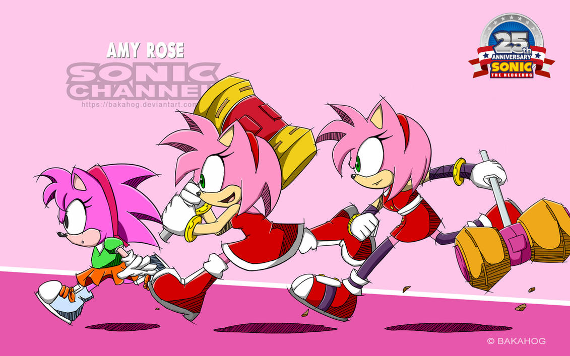 [Amy Rose] Sonic Channel Style by Bakahorus