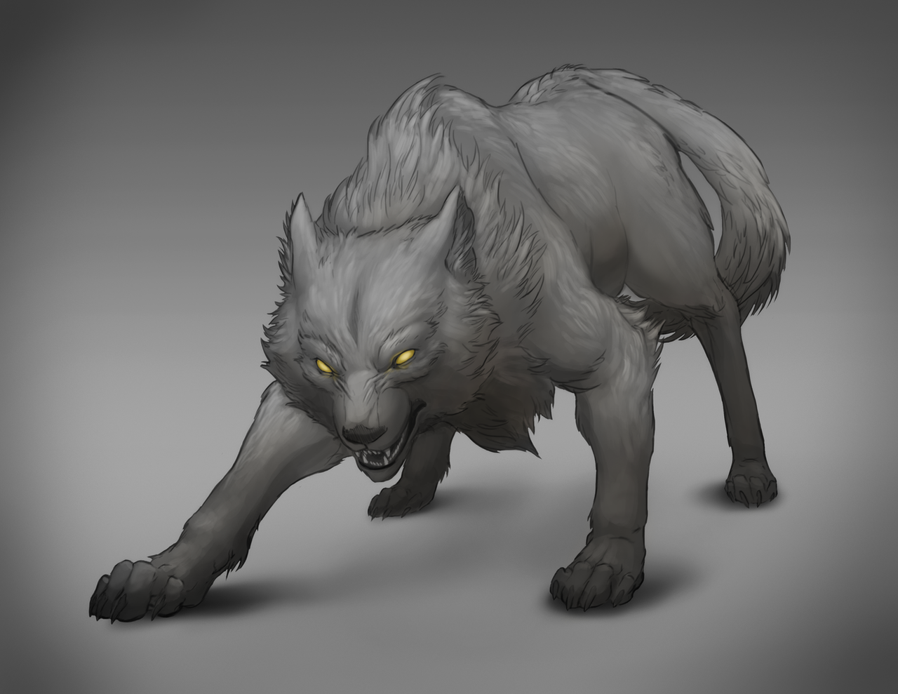 Bigby Wolf - Full Wolf Form by cweinmanart on DeviantArt