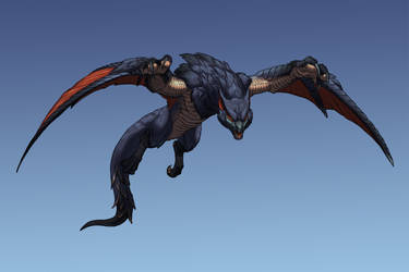 It's a bird, it's a plane... It's a Nargacuga! by cweinmanart