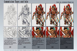 Commission Info Page with Examples by cweinmanart