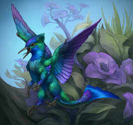 Hummingbird Dragon by cweinmanart