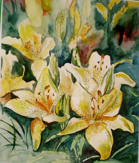lilies by TanyaPaperniuk