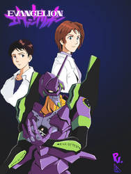 Evangelion print colour by PiusInk