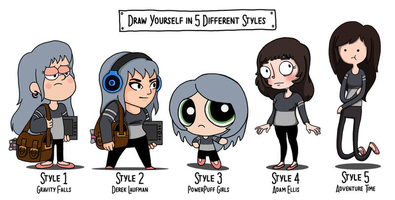 Cartoon Characters Yourself : Draw yourself by lexyfaceee on deviantart