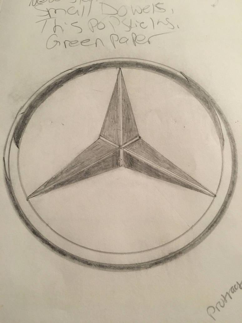 Mercedes-Bends logo  by letsjustdraw