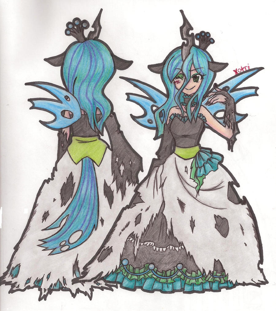 Queen Chrysalis by Xotri