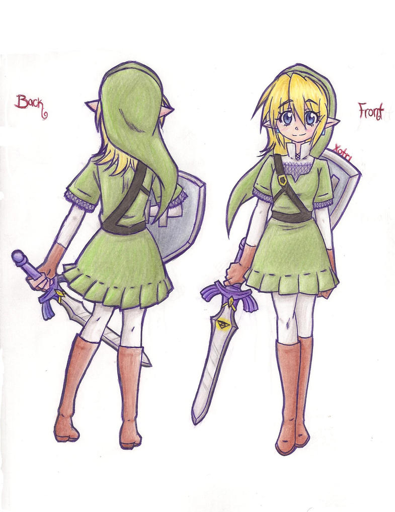 Fem. Skyward Sword Link by Xotri