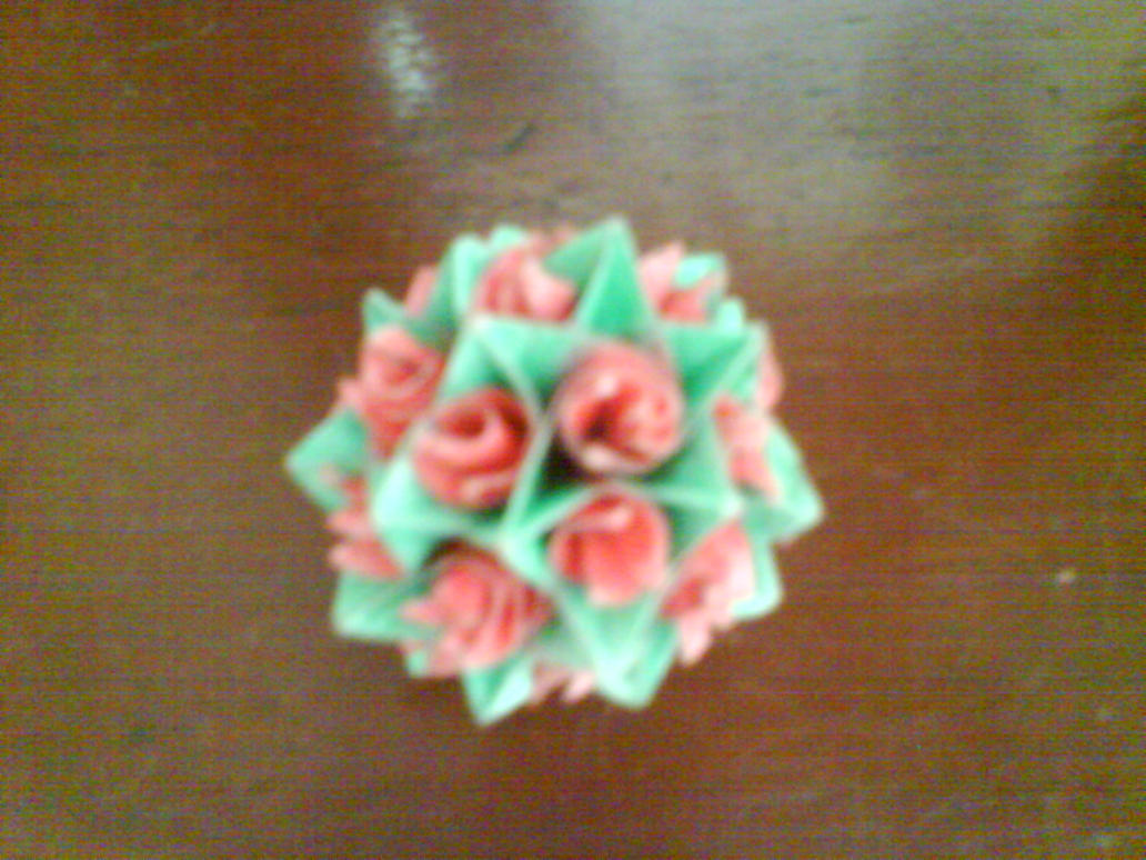 Kusudama Swirl Rose by Faboqda
