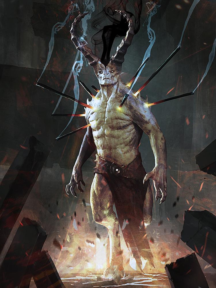 slightly evil horned person by IgorKieryluk