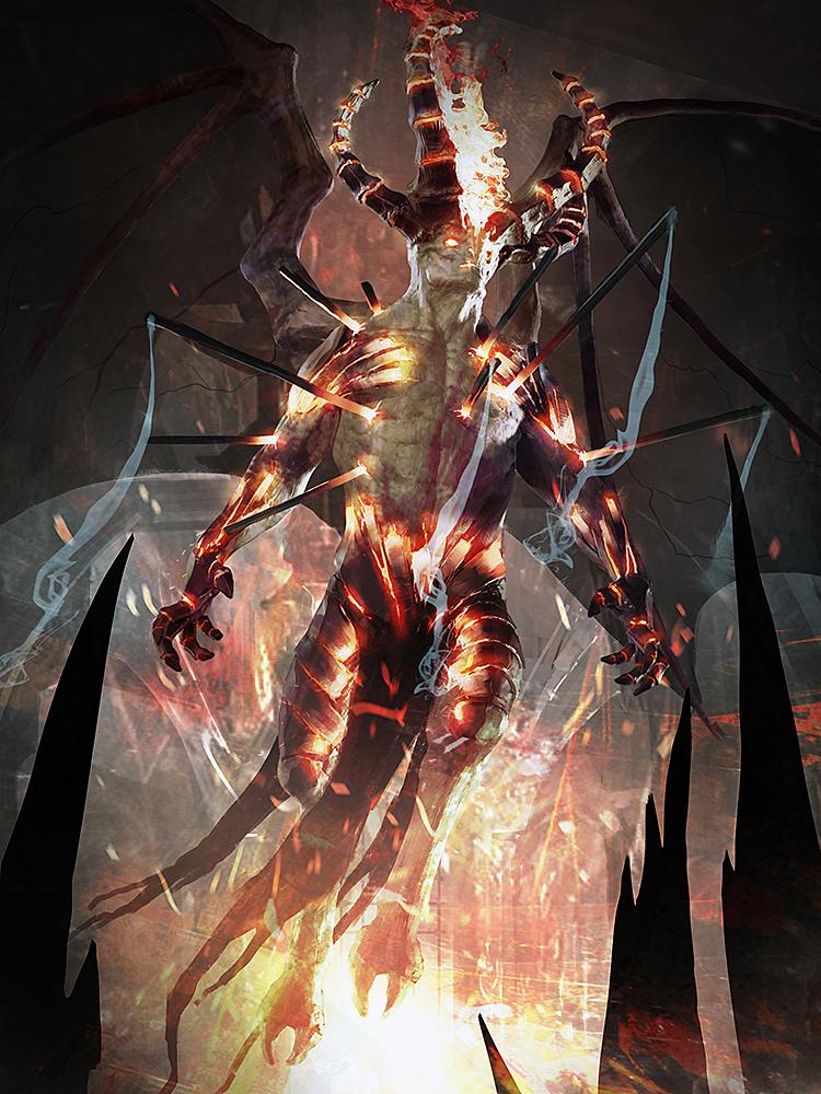 slightly more evil horned person by IgorKieryluk
