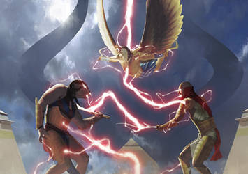 Amonkhet Chain Lightning by IgorKieryluk