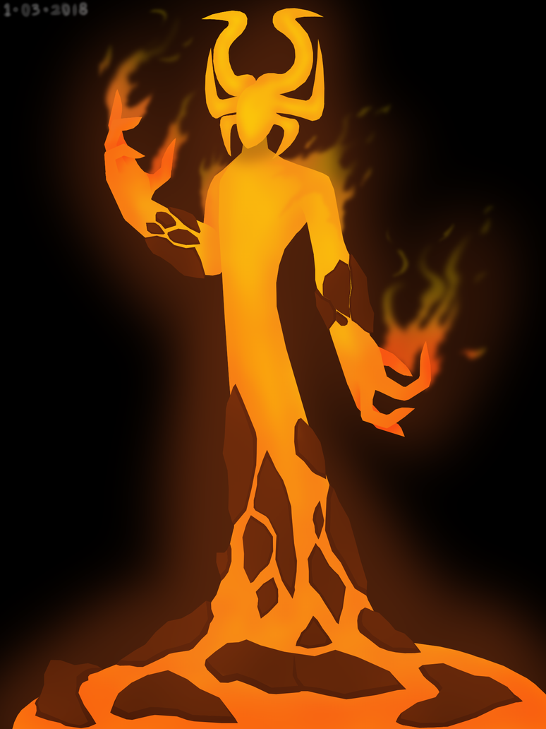 Elemental Lord of Fire by Akbarbagus