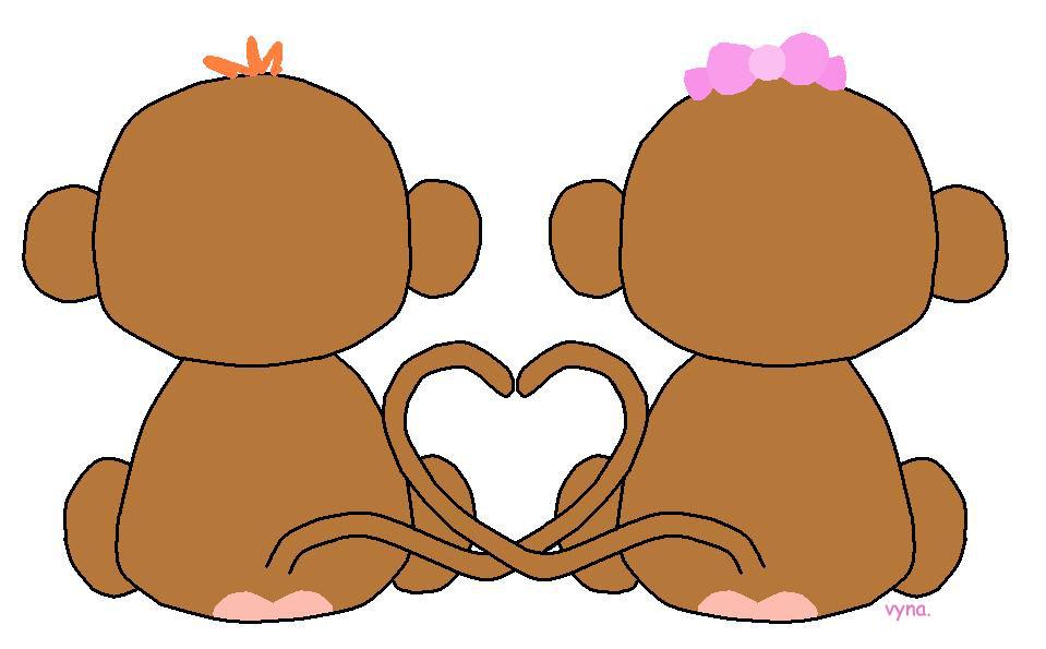 monkeys in love by freakiichild on deviantART