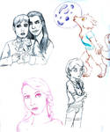 sketches I did on vacation by catacastilloramirez
