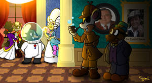 Sherlock Mouse and Dr. Penfold by SariSpy56