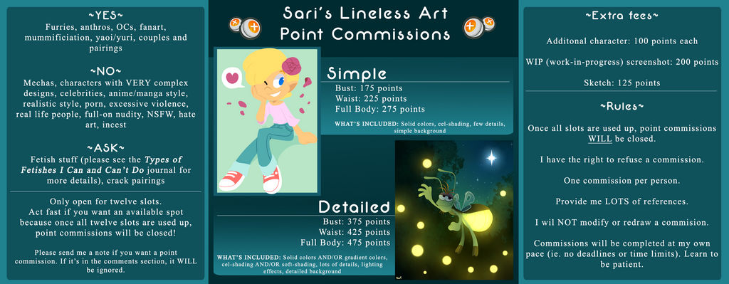 Sari's Lineless Art Point Commissions [CLOSED]