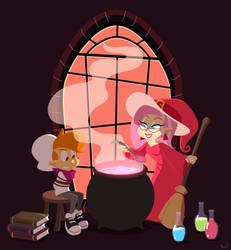 Drawlloween: Witch by SariSpy56