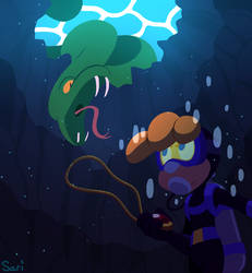 Escape from the Giant Water Snake