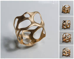 Bio 4, 14k gold ring by doronmerav