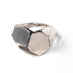 Parched earth, silver ring by doronmerav