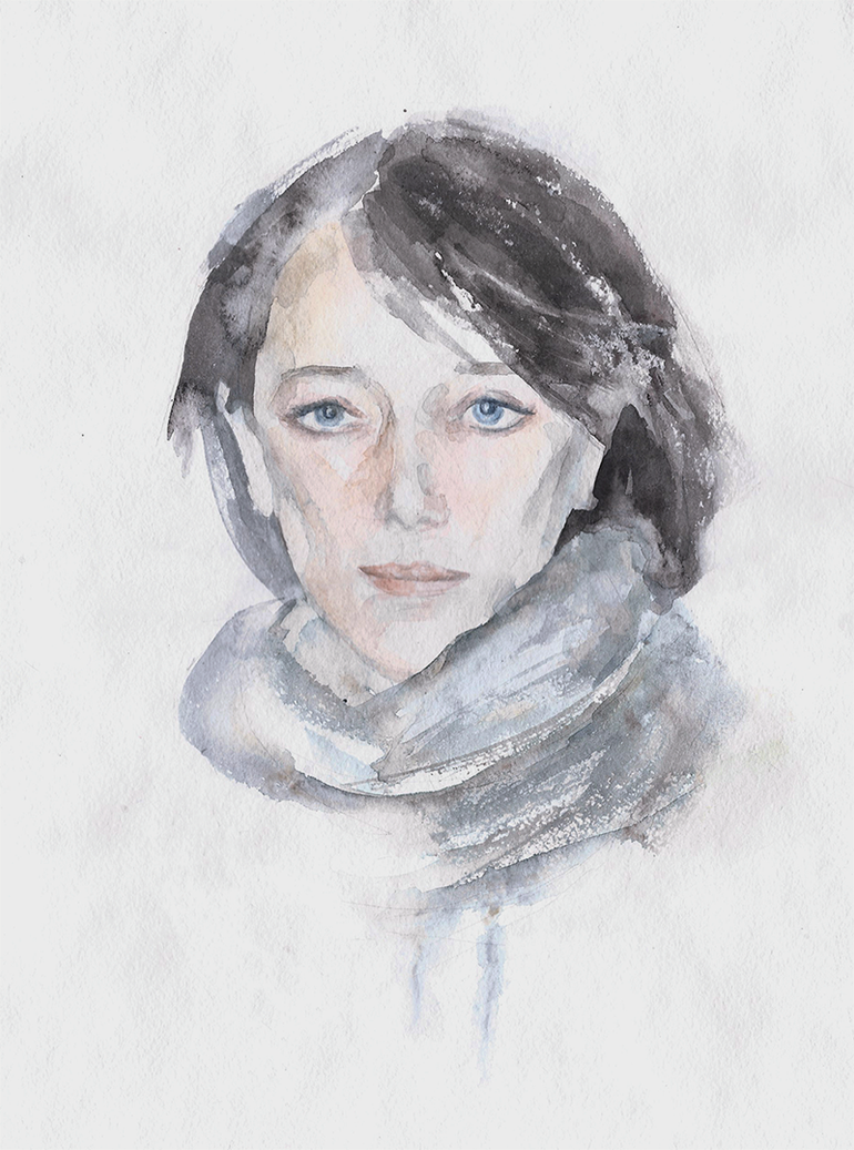Watercolor portrait by lanavoro