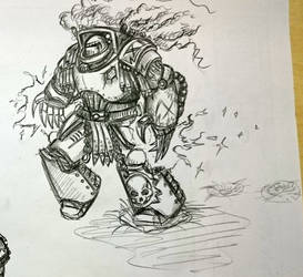 Some Heresy-era Death Guard doodles, terminator by Sherrypie