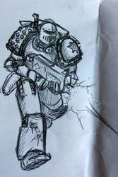 Some Heresy-era Death Guard doodles, another tac