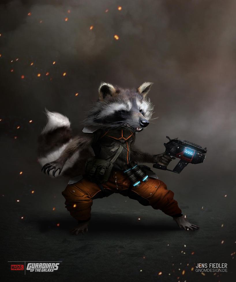 Rocket Raccoon by ogereye