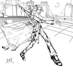 Haruka x Michiru - Sailor Moon Fanart