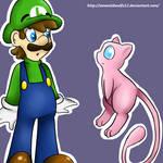 Luigi and Mew