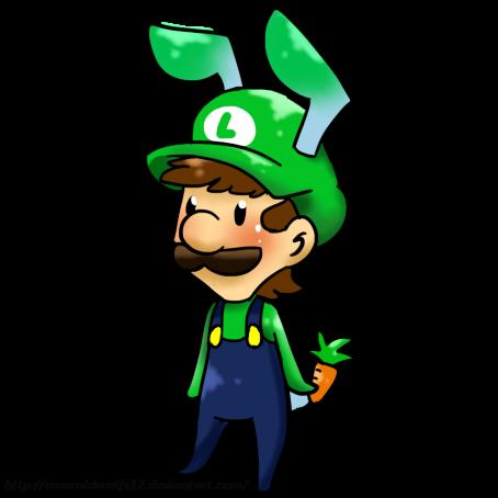 Chibi Bunny Luigi by MariobrosYaoiFan12