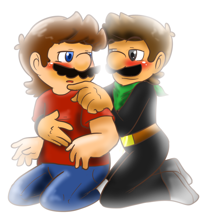 Mario and Mr.L by MariobrosYaoiFan12