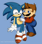 Mario and sonic preggy by MariobrosYaoiFan12