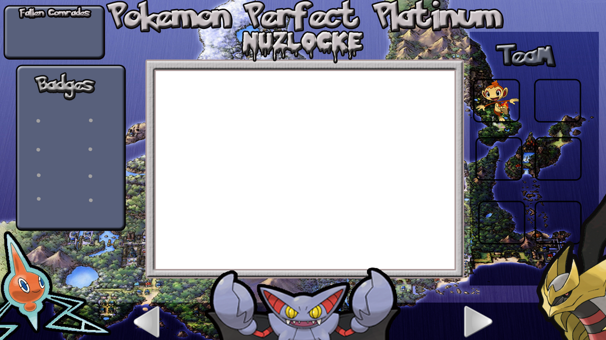 Pokemon Platinum Nuzlocke Layout by KojiroBlade