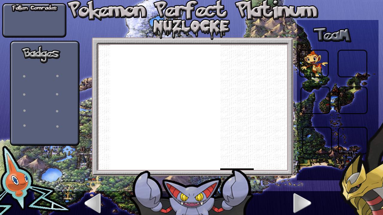 Pokemon Platinum Nuzlocke Layout by KojiroBlade