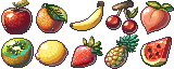 [Pixel Art Food] 32x32 Fruits - Free Download by AnarchisedLUTE