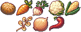 [Pixel Art Food] 32x32 Vegetables - Free Download by AnarchisedLUTE