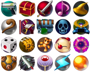 [Fanart] FFX-2 Dressphere Icons - Free Download by AnarchisedLUTE