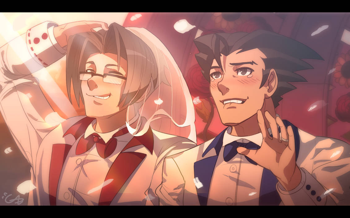 wrightworth ace attorney official art